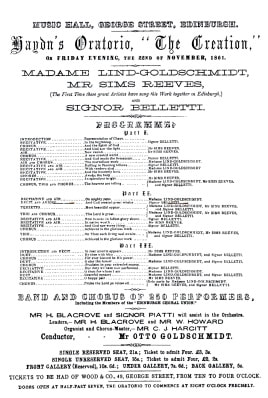 Image of 1861 programme.