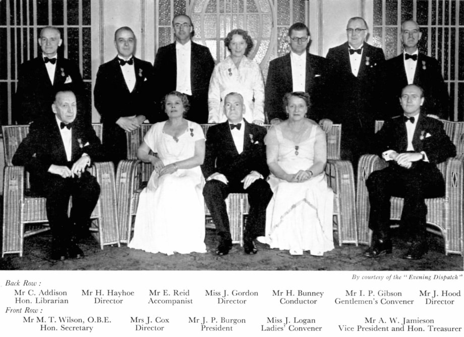 Office bearers in the 1958 centenary.