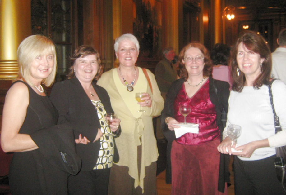 Members enjoying the reception