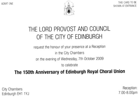 Invitation to civic reception