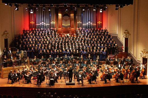 A Messiah concert at the Usher Hall