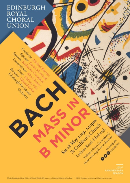 Flyer for Bach Mass in B minor